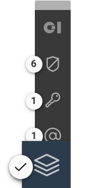 Toolbar with focus on data